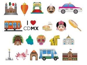 Emojis sobre Ciudad de México