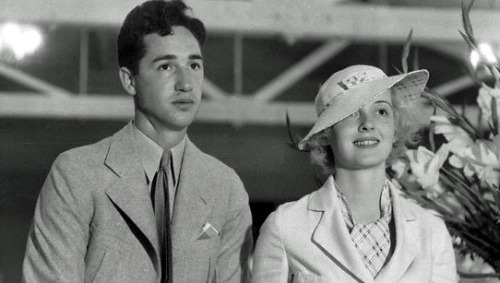 Bette Davis y su esposo Harmon Oscar Nelson