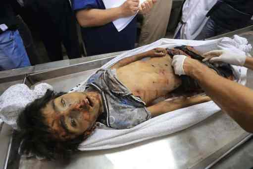 quatre enfants de Gaza victimes de l'entité sioniste 1