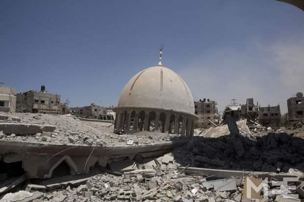 La mosquée Ebar Ar-Rahman de Khuza'a détruite