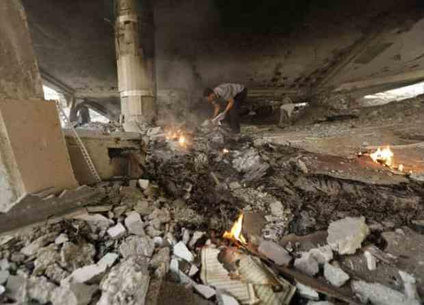 Les ruines de la mosquée Al-Omari de Gaza 3
