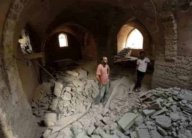 Les ruines de la mosquée Al-Omari de Gaza 5