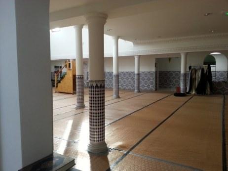 Salle de prière de la mosquée de Tournon-sur-Rhône