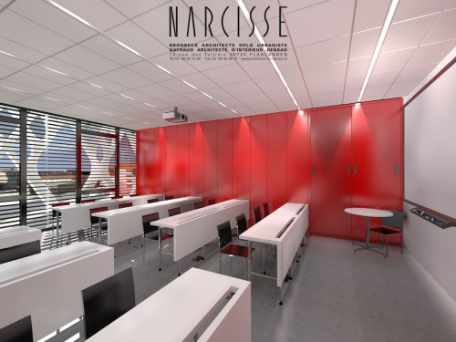 Salle de classe Centre Annour de Mulhouse