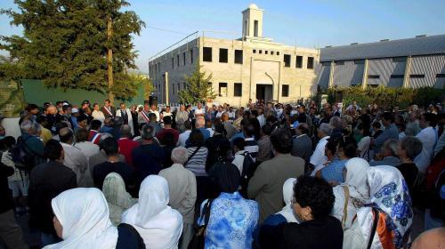 Tête de sanglier devant la mosquée d'Aubagne