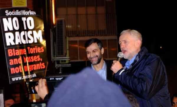 Jeremy Corbyn en soutien à la mosquée de Finsbury Park
