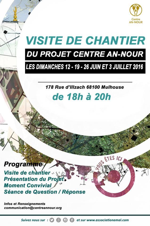 Visite de chantier du Centre Annour de Mulhouse