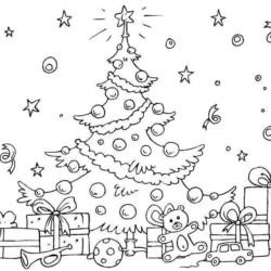 Desenhos De Rvore De Natal Desenhos E Colorir