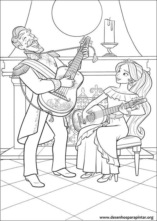 En esta página volverás a encontrarte con elena, una de las princesas de disney. Elena de Avalor desenhos para colorir imprimir e pintar da