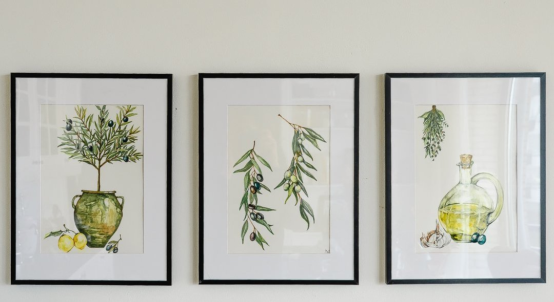 Botanische aquarelle prints - set van 3