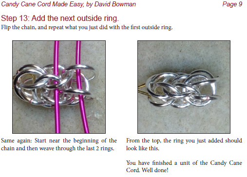 Candy Cane Cord Chainmaille Jewelry Tutorial