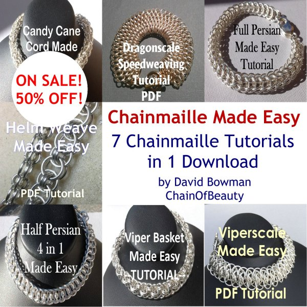 7 Tutorial Chainmaille Jewelry Instructions