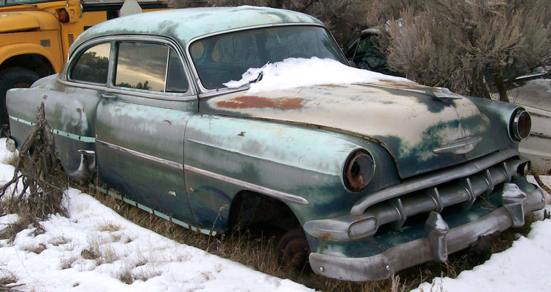 Restorable Chevrolet Classic and Vintage Cars For Sale 1950 54 1954 Chevy Two Ten 2 door sedan  2 for sale  4 500
