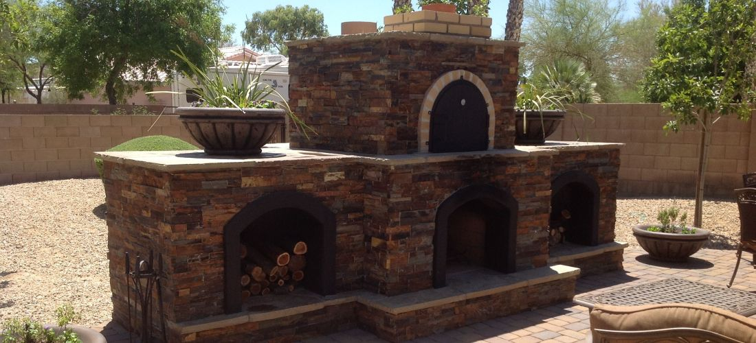 Our Scottsdale & Phoenix Outdoor Fireplaces Portfolio ... on Outdoor Patio With Pizza Oven  id=21518
