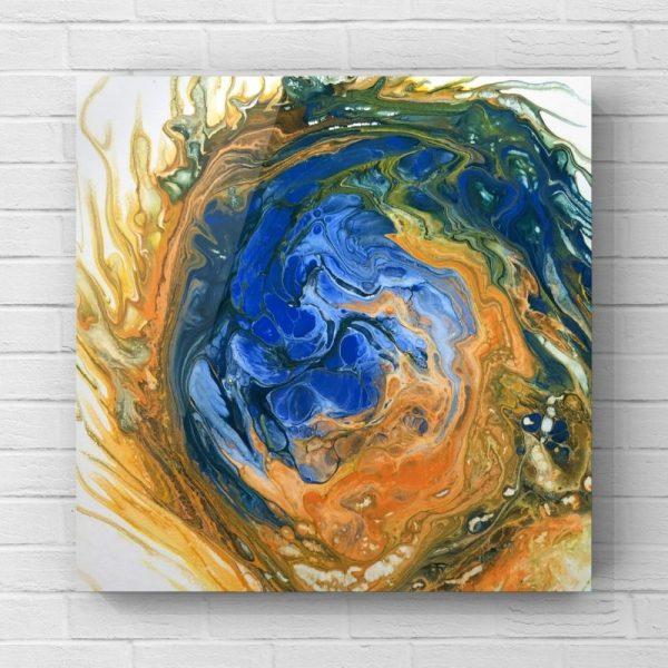 Acrylic Pour Painting Fire Fox 2 Desert Hippie Arts6