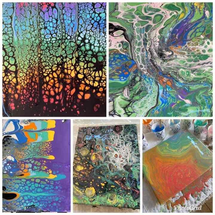 Acrylic Paint Pouring Techniques Level 1