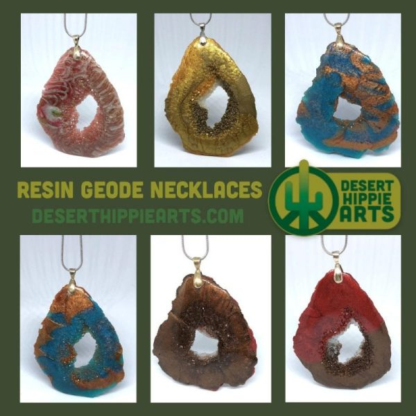 Resin Geode Necklace Large