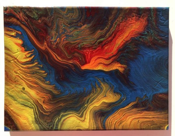 """Flight"" acrylic pour painting"