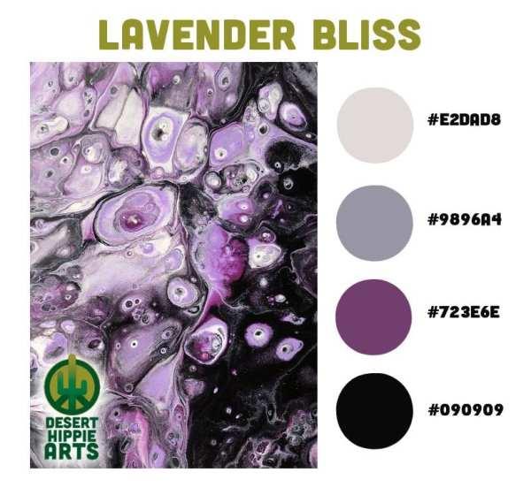 Lavender Bliss Color Scheme Desert Hippie Arts 1