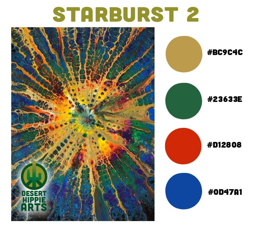 My Favorite 5 Color Combinations Starburst 2