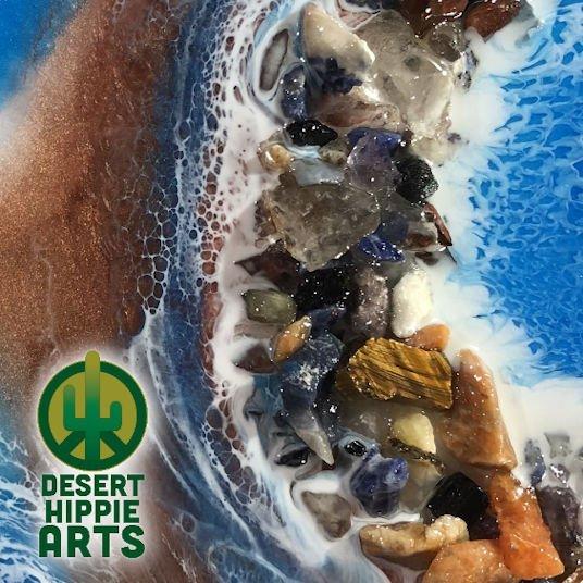 Desert Hippie Arts Rocky Waters Resin Art 2