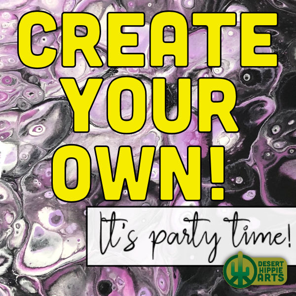 Acrylic paint pouring classes and parties