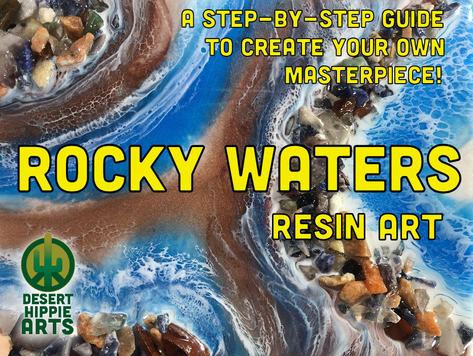 Desert Hippie Arts Rocky Waters Resin Art 6 1