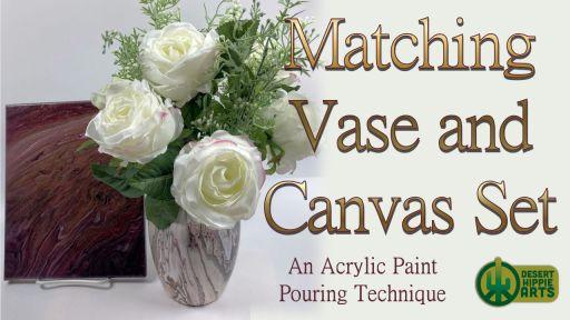 Matching Vase and Canvas Set Desert Hippie Arts