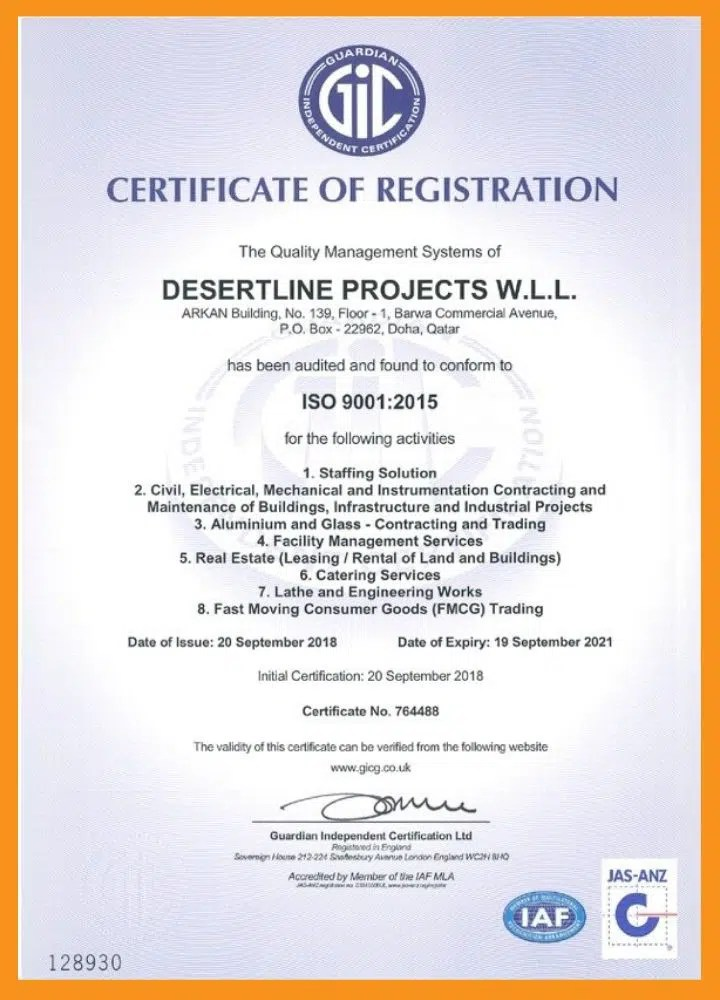 desert line group certificates