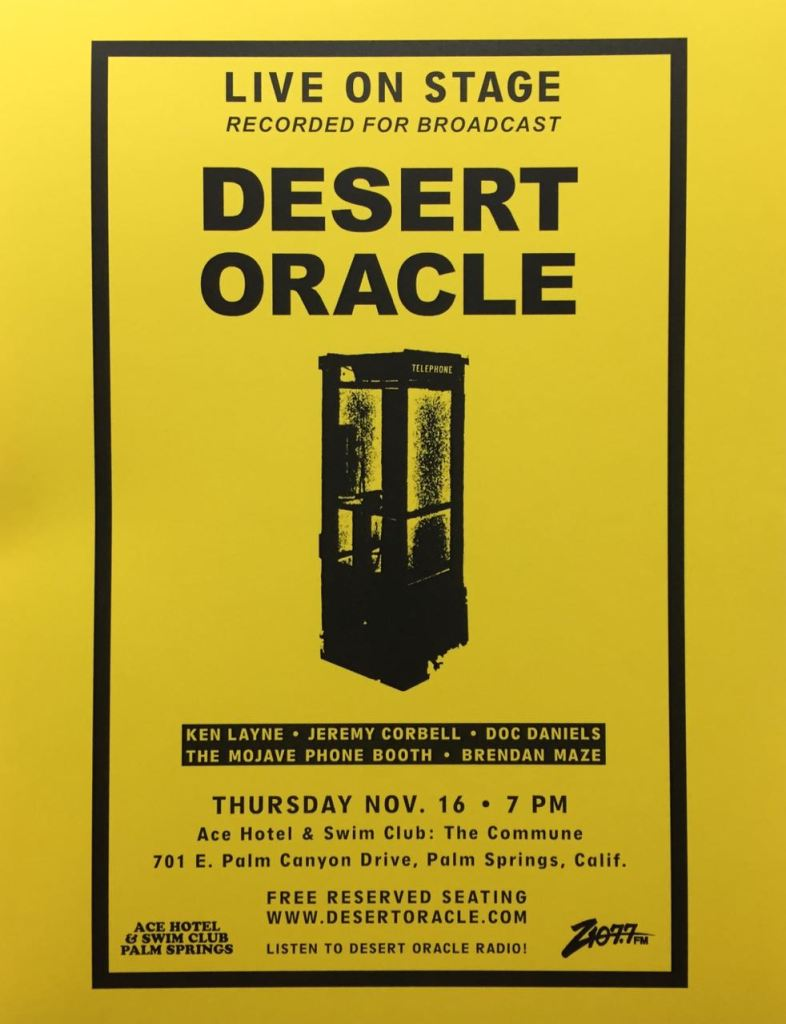 DESERT ORACLE RADIO LIVE!