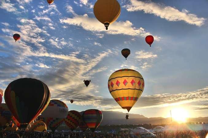 Albuquerque International Balloon Fiesta 2015 - Morning Balloons