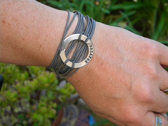 Wordy Woman - Breathe bracelet