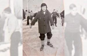 Schaatsen in 1956 op ijsbaan Arosa in Utrecht
