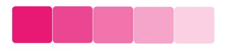 La couleur rose