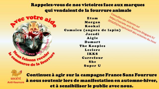Societe Anti-Fourrure_Le recul des marques - Zapa