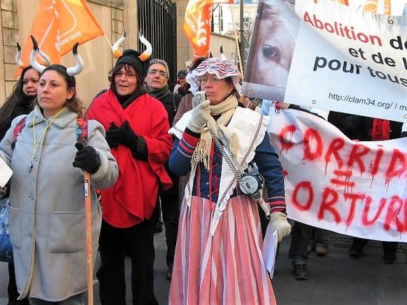 manifestations anti-corrida