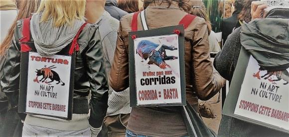 Manif anti-corrida octobre 2012