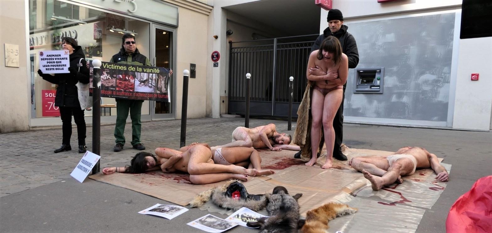 Manif anti-fourrure Zapa_18 février 2017