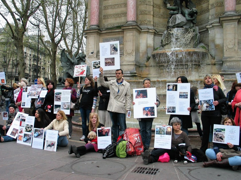Manifestation contre le massacre des animaux en Ukraine - 31 mars 2012