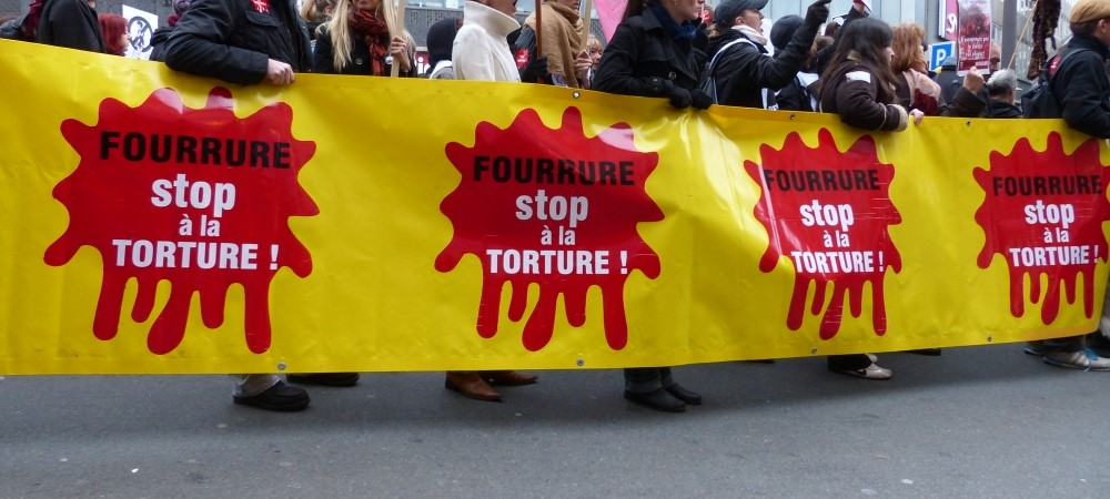 Fourrure : la mode torture - Actions militantes