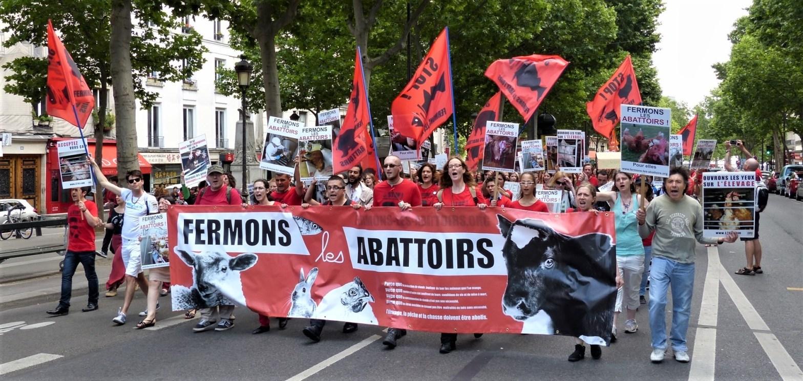 Marche pour la fermeture des abattoirs 2014