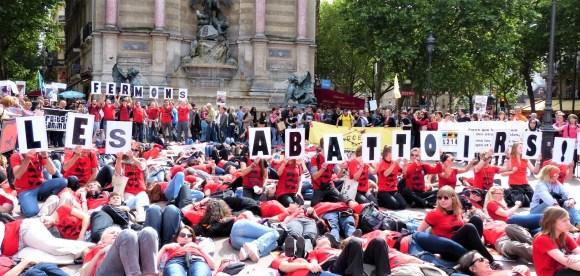Marche pour la fermeture des abattoirs_juin 2013