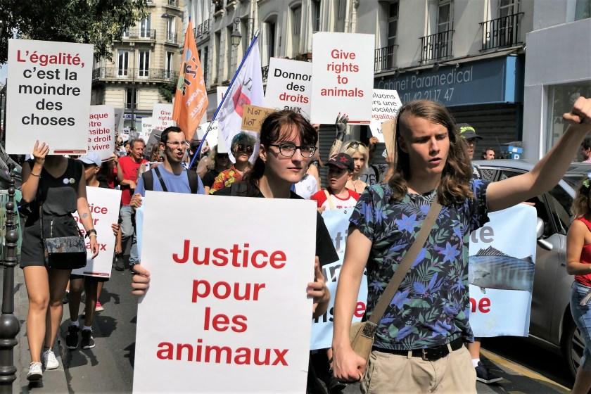Marche pour la fin du spécisme - Paris 26 août 2017