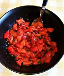 Marinade de poivrons -cuisine vegan