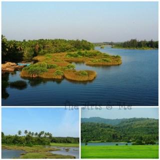 Green Coastal Karnataka - Paddy fields, coconut trees, rivers and hills