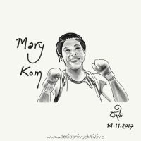 Mary Kom - Fingertip Digital Art