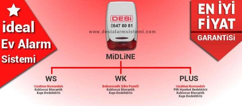 En uygun fiyatlı ev alarm sistemi desi midline modeli.