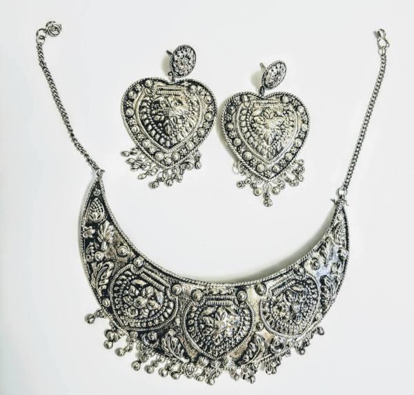 Antique Vintage Oxidized Choker Jewelry Set w/ Neckace ...