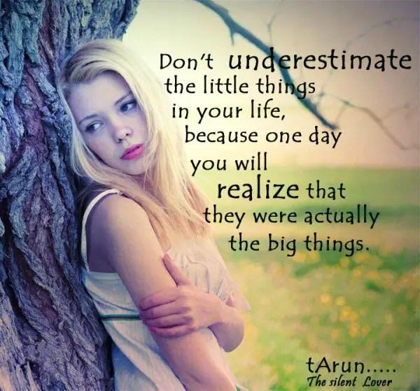 Don't Underestimate