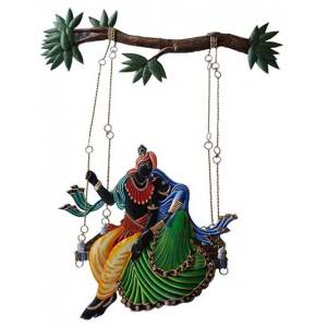 Radha Kishan Big Jhula Iron Wall hanging